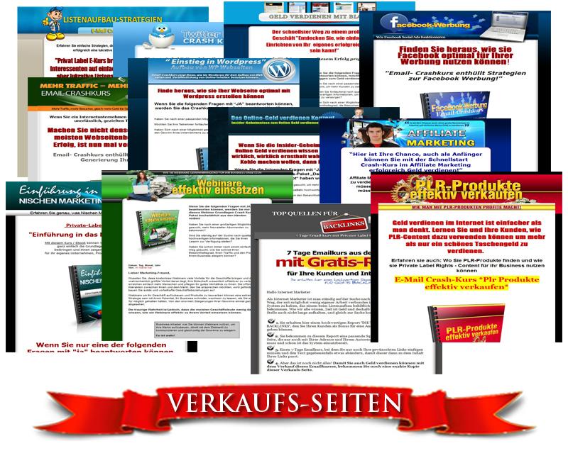collection-Verkaufs-Seiten