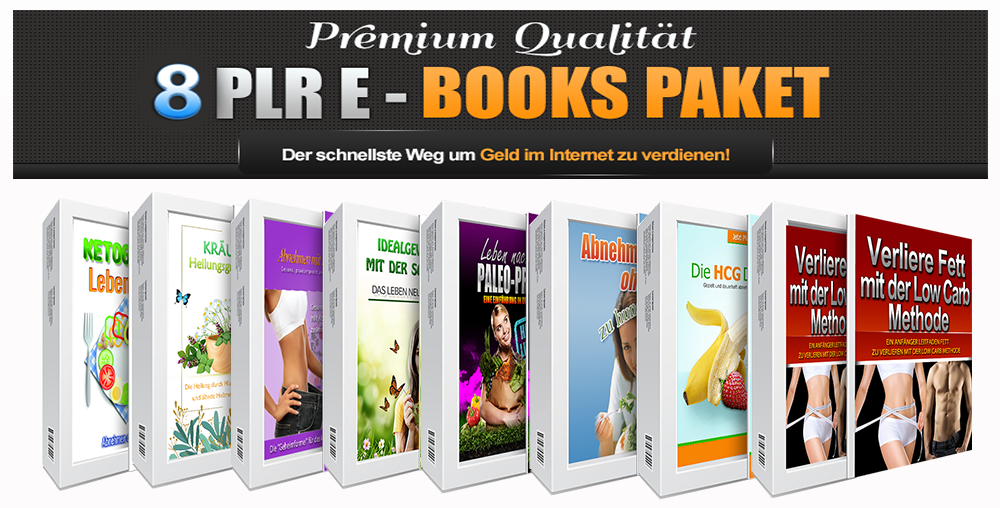 8 PLR E-Books